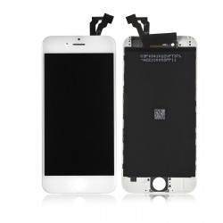 "TOUCH SCREEN + LCD RETINA + FRAME PER IPHONE 6 PLUS 5,5"" BIANCO VETRO DISPLAY SCHERMO"