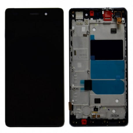 DISPLAY LCD + TOUCH SCREEN + FRAME VETR VETRINO HUAWEI P8 LITE NERO BLACK