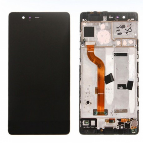 DISPLAY LCD+TOUCH COMPLETO con FRAME HUAWEI P9 LITE NERO